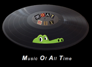 MOATmix logo, a cartoon gator peeking out above the vinyl of an LP record